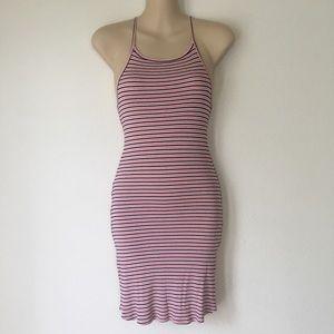 Hollister Striped Bodycon Mini Tank Dress Medium